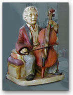 Ceramic Cellist
